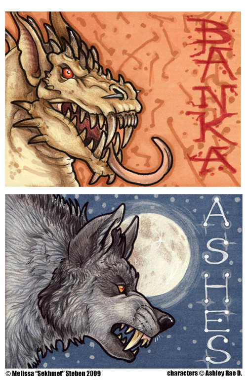 Ashes and Banka Badges by Art-of-Sekhmet