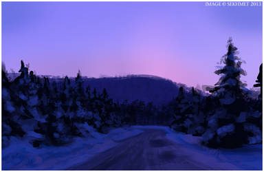 Speed Painting: Winter Road