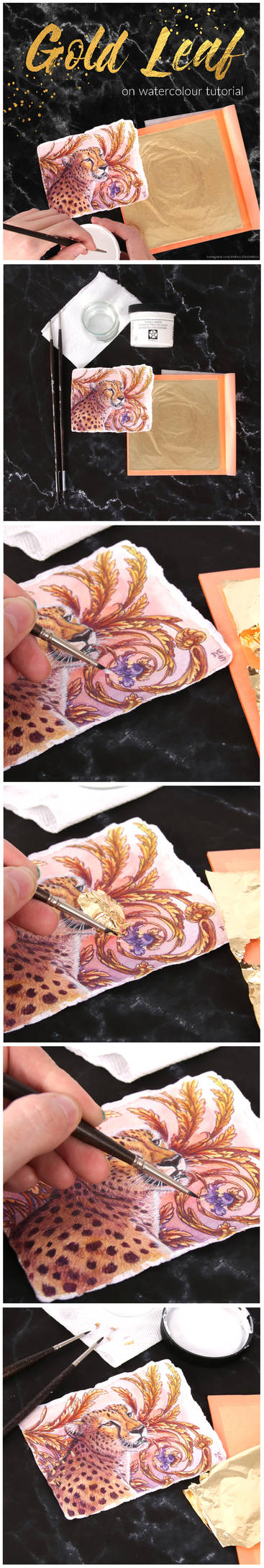 Goldleaf on Watercolour Tutorial