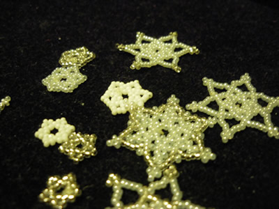 Beaded Snowflakes by Sindy-Chan