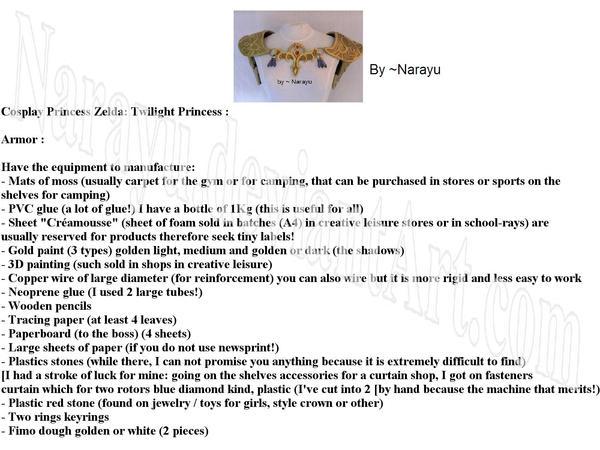zelda armor tutorial main page by Narayu