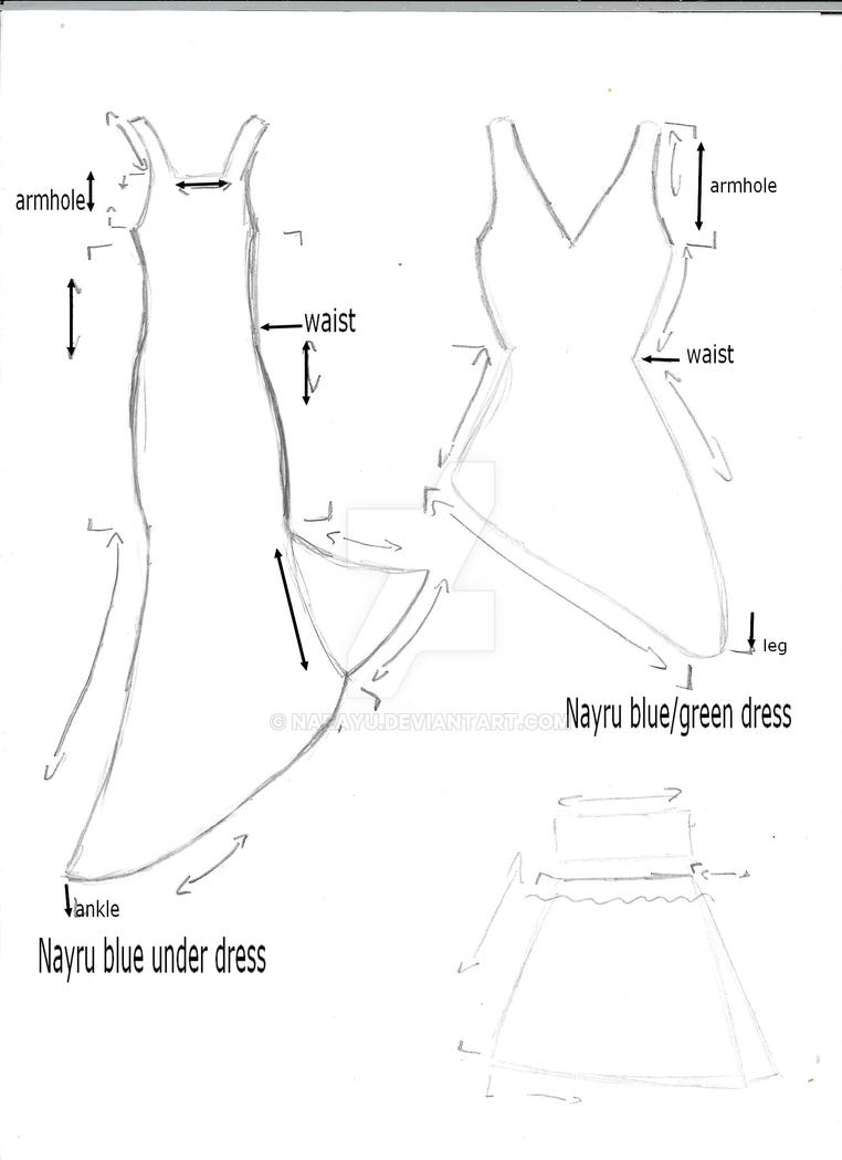 Nayru cosplay dresses pattern by narayu on deviantart for How to make a wedding dress pattern