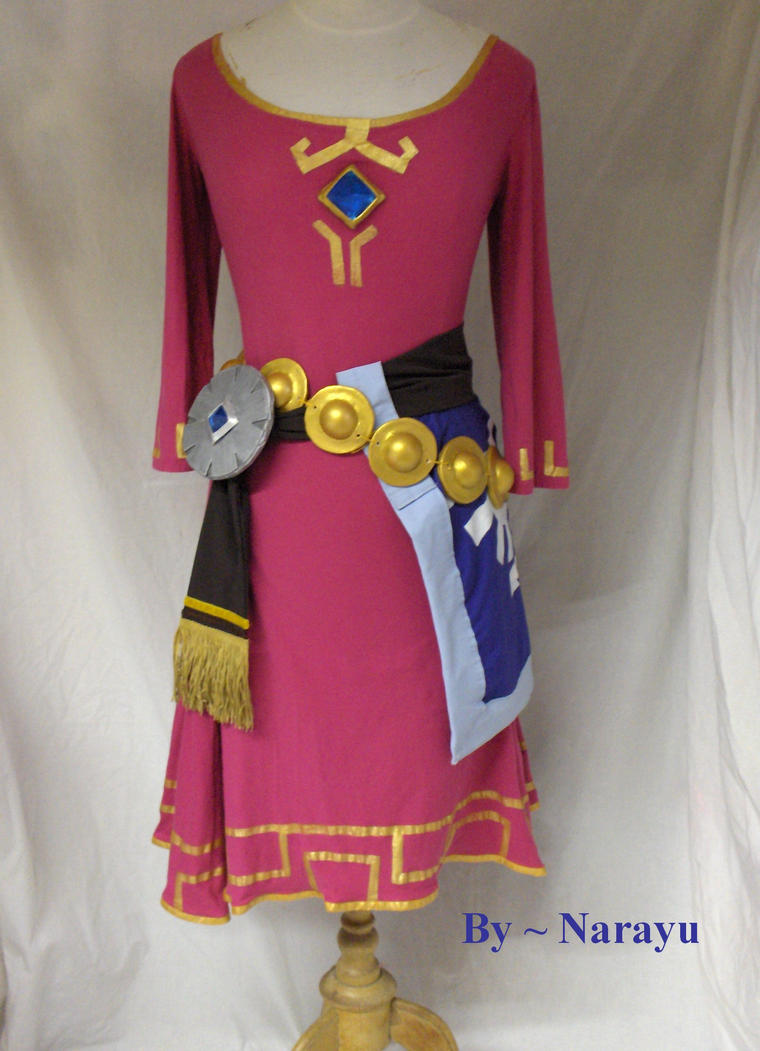 zelda skyward sword dress front by narayu on deviantart