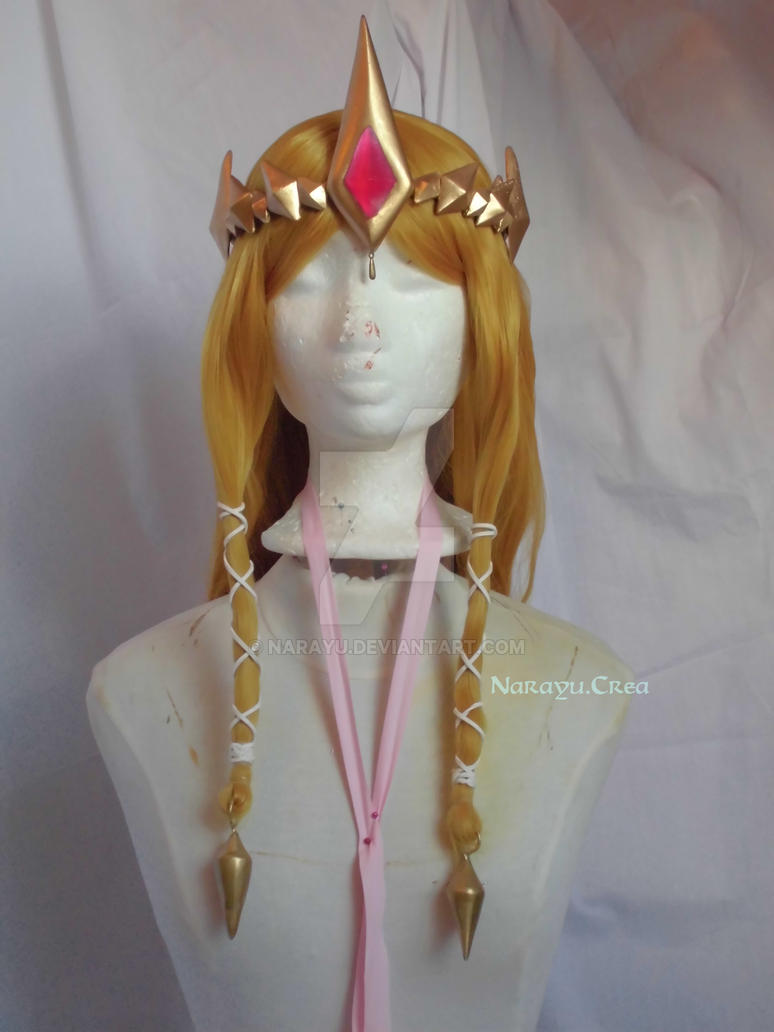 Hyrule Warriors Zelda styled wig front view by Narayu