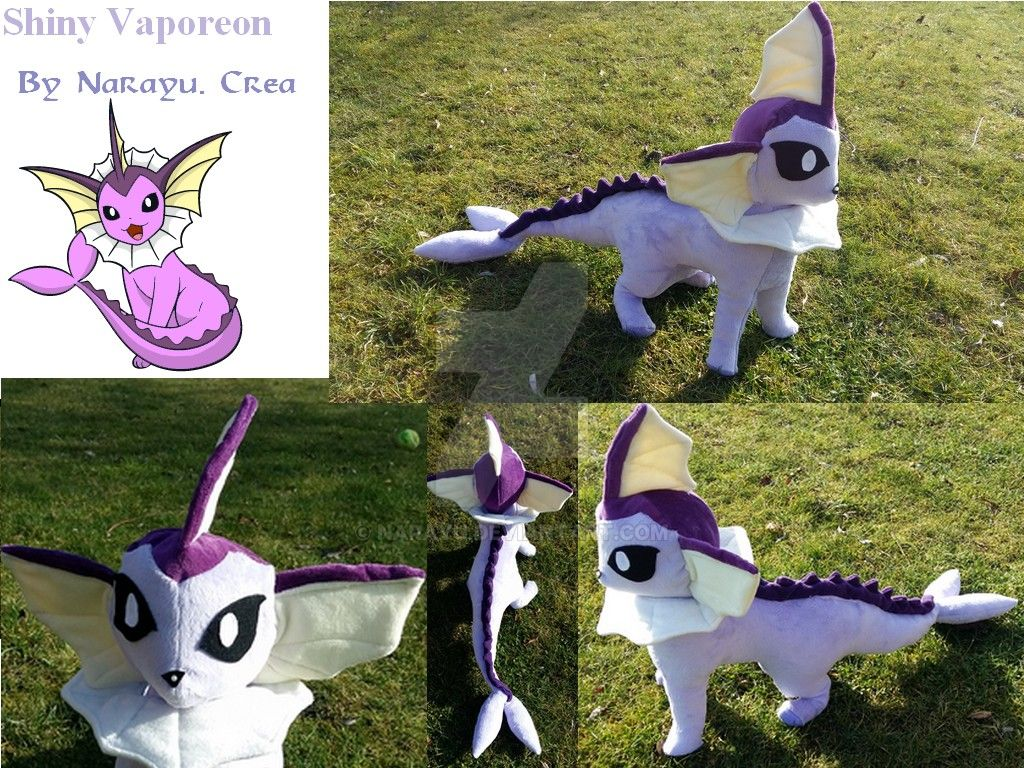Shiny Vaporeon plush 1 by Narayu