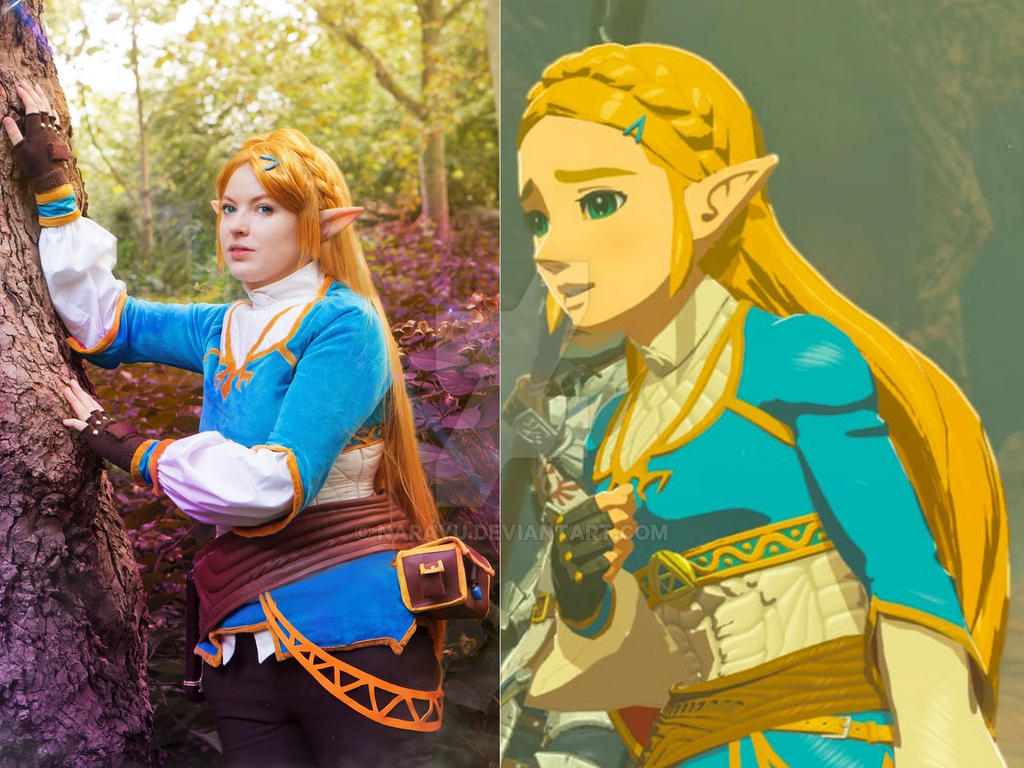 Cosplay Versus Character Botw Princess Zelda By Narayu On Deviantart