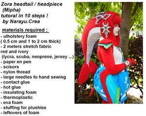 Zora headtail / headpiece tutorial (Mipha cosplay)