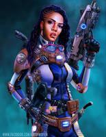 'Lollipop' Jenny - The Space Mercenary by JJwinters