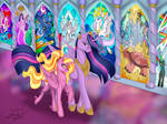 Princess Luster Dawn and Princess Twilight Sparkle