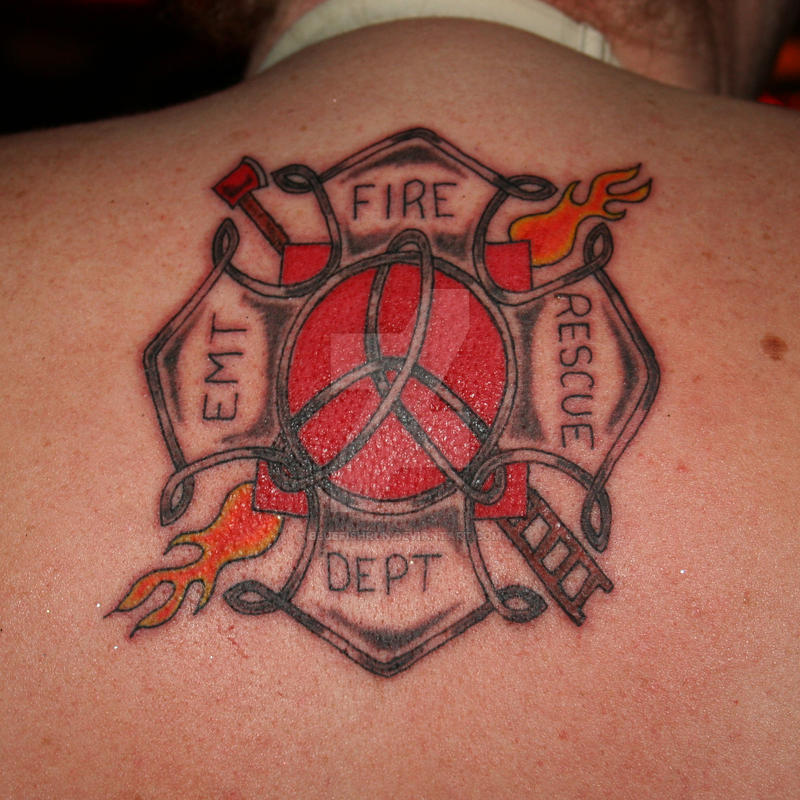 Custom fire maltese tattoo by bluefishrun on deviantart for Tattoo shops in st cloud mn