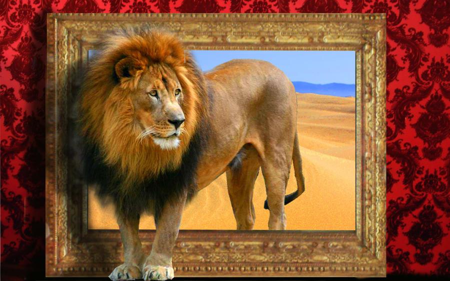 lion out of frame by gilles marchand on deviantart. Black Bedroom Furniture Sets. Home Design Ideas