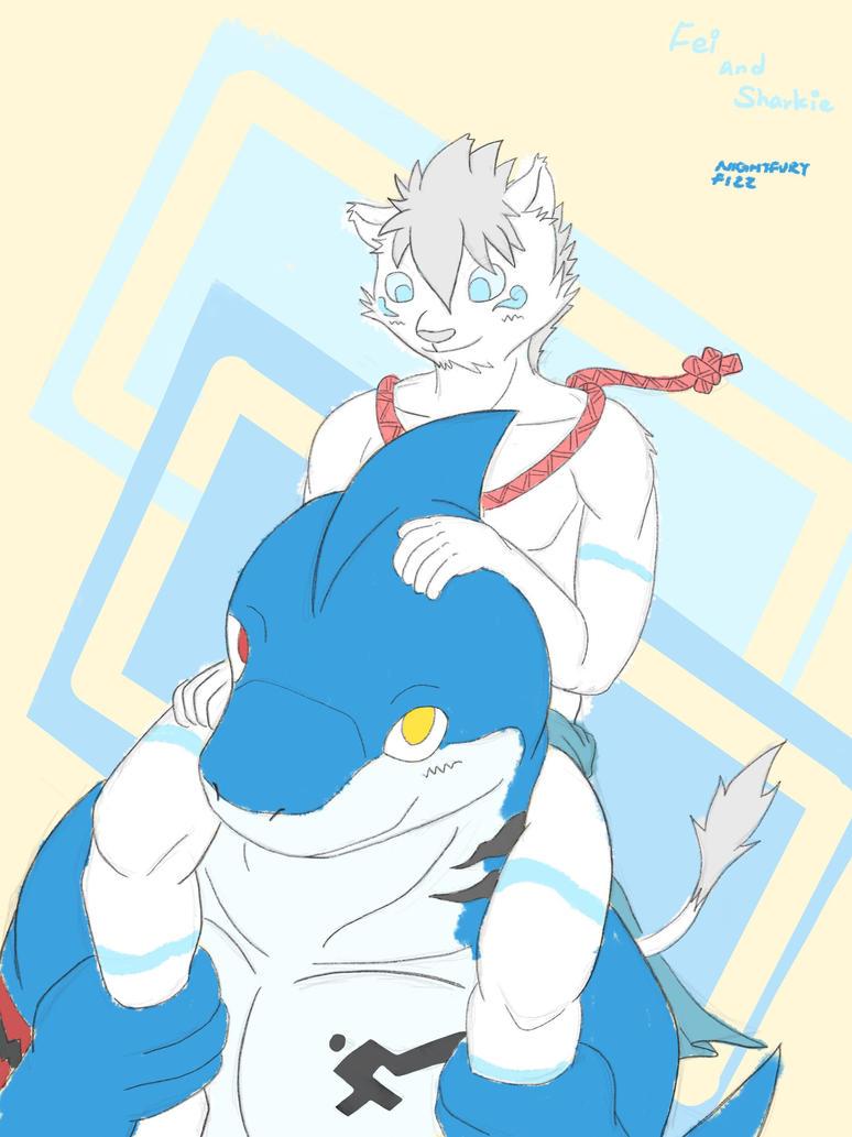 Fei and Sharkie by NightfuryFizz