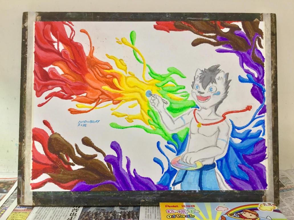 Coloring digital world ! Fei by NightfuryFizz