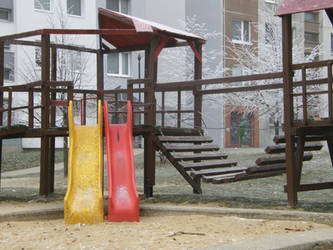 Winter 11 - Empty playground by Gwathiell