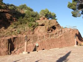 Spain Sa34 Red mountain by Gwathiell