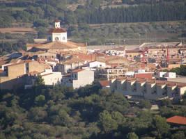 Spain Sa43 Town in distance by Gwathiell