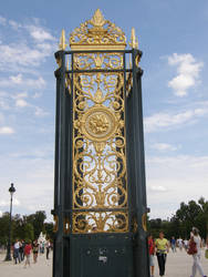 Gate to Louvre Gardens by Gwathiell