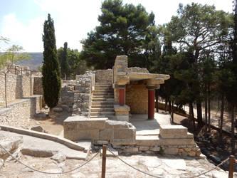 Crete - Knosos - House by Gwathiell
