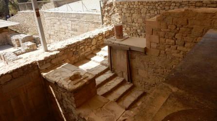Crete - Knosos - Stairway by Gwathiell