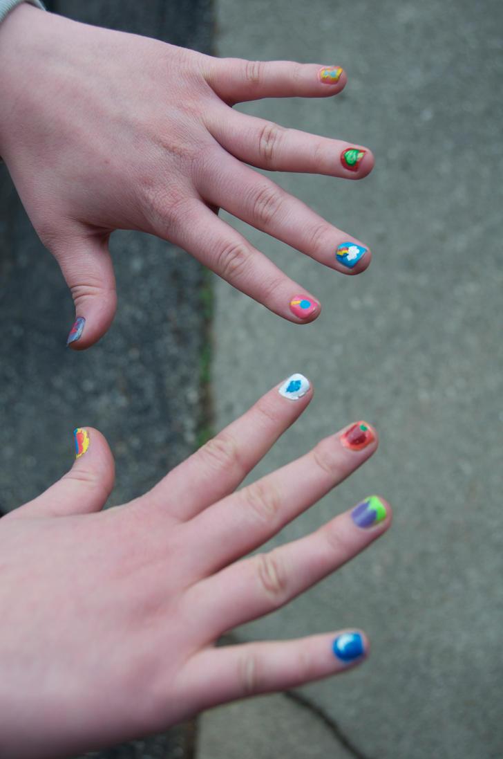My Little Pony Friendship is Magic Nails by lunalizard on DeviantArt