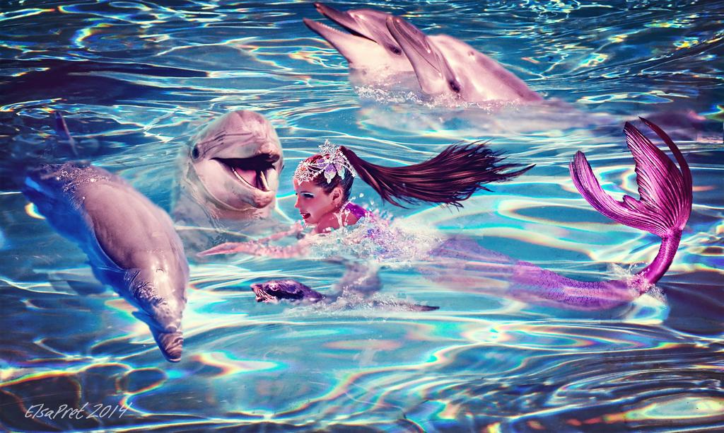Sea Princess and Friends by Elsapret