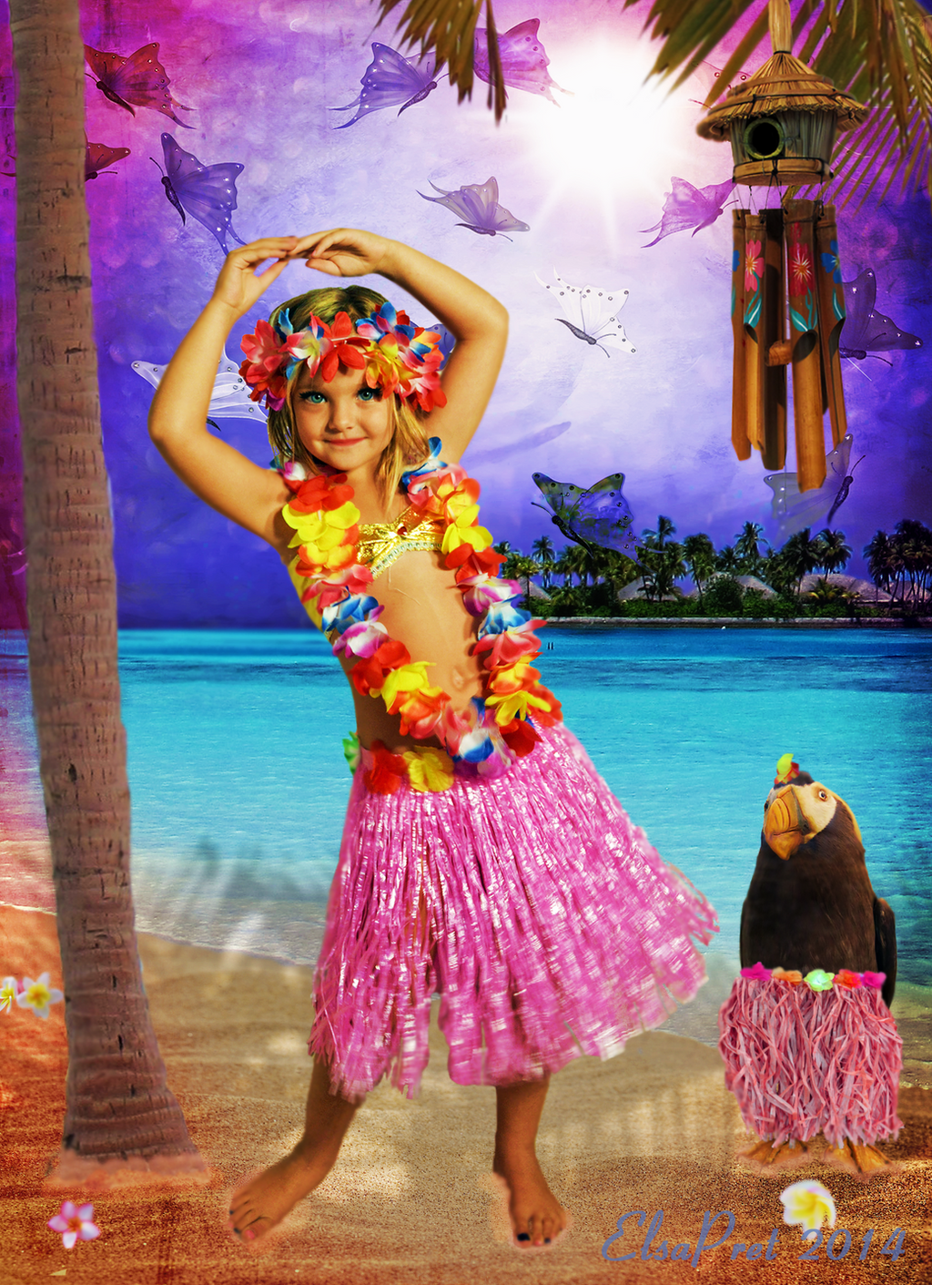 Lesson in Hula Dancing by Elsapret