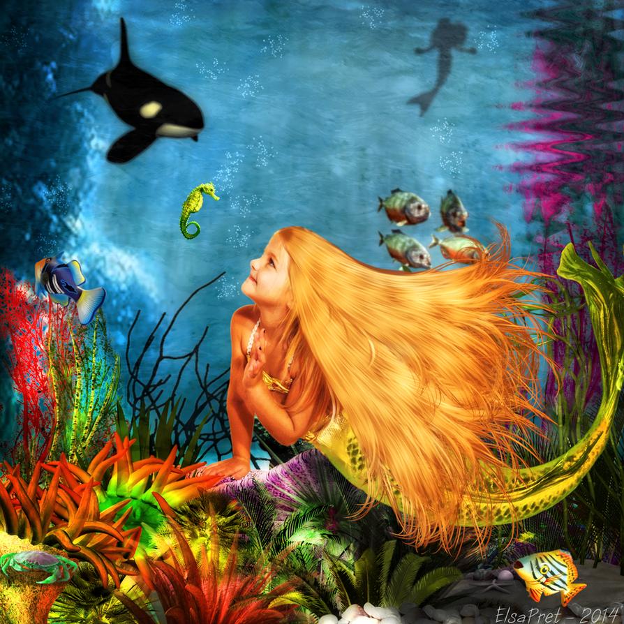Mermaids ocean by Elsapret