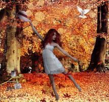 Autumns Care Free Dance by Elsapret