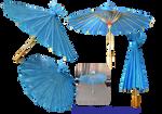 Little blue umbrella