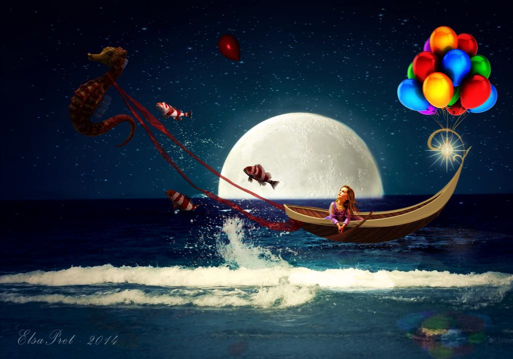 Journey in the night by Elsapret