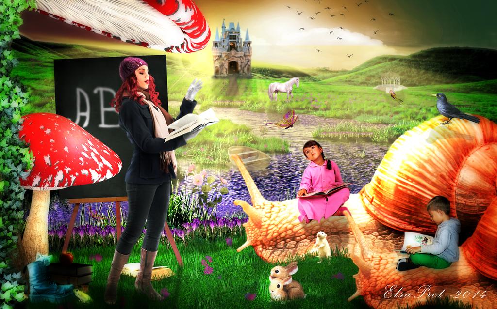 Imagine Outdoor Schooling by Elsapret