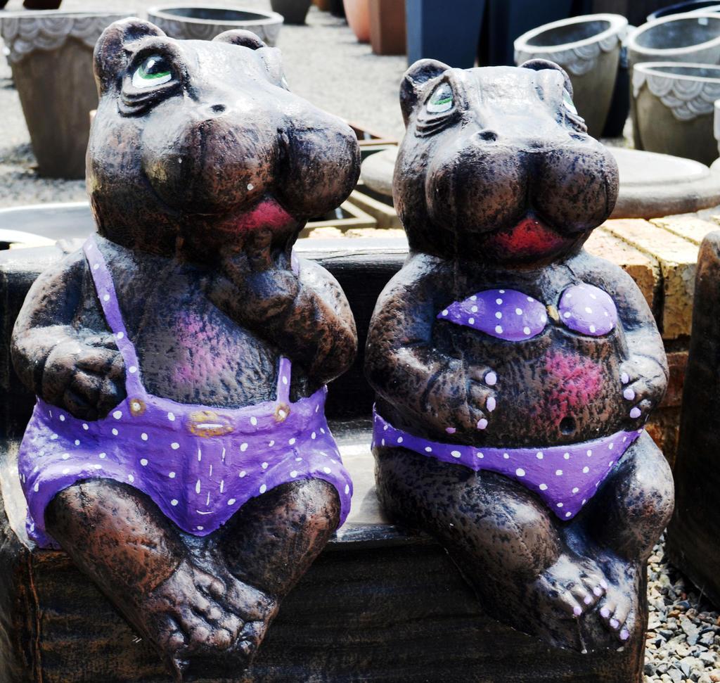 Sweet Garden Hippopotamus by Elsapret