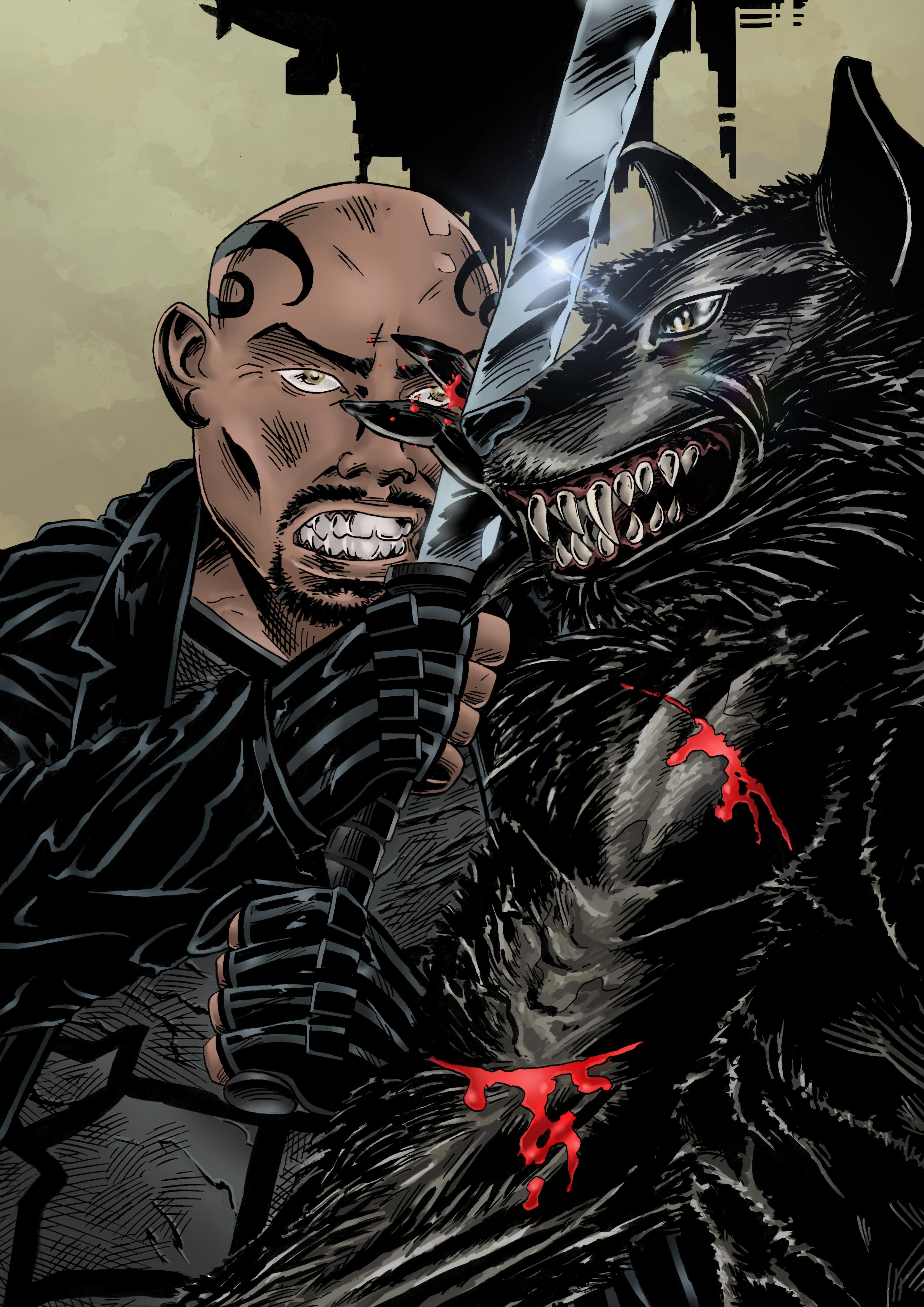 Blade VS Werewolf by Steff00 on DeviantArt