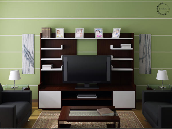 Living Room Green by evilwata