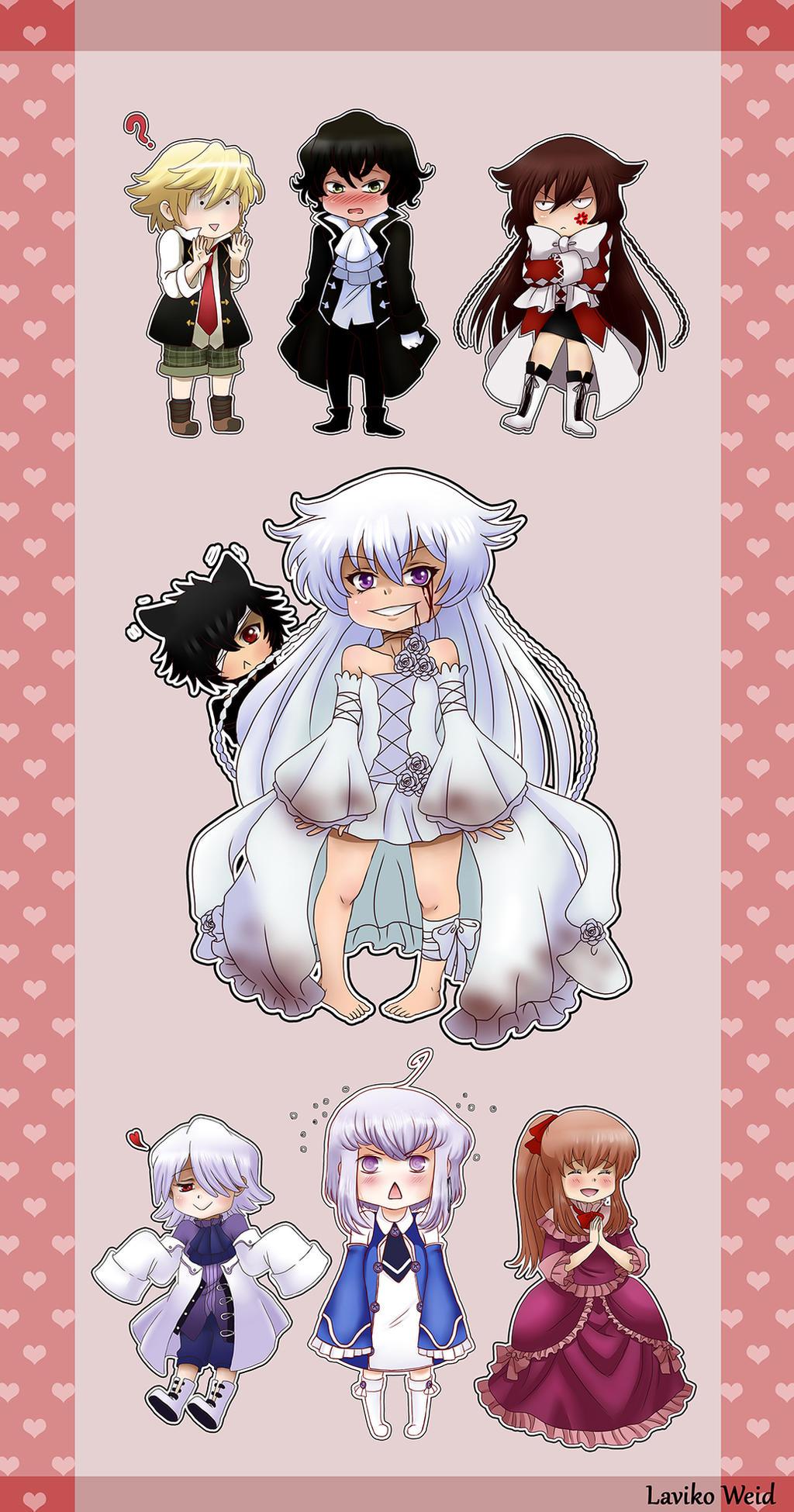 Pandora Hearts stickers by Laviko