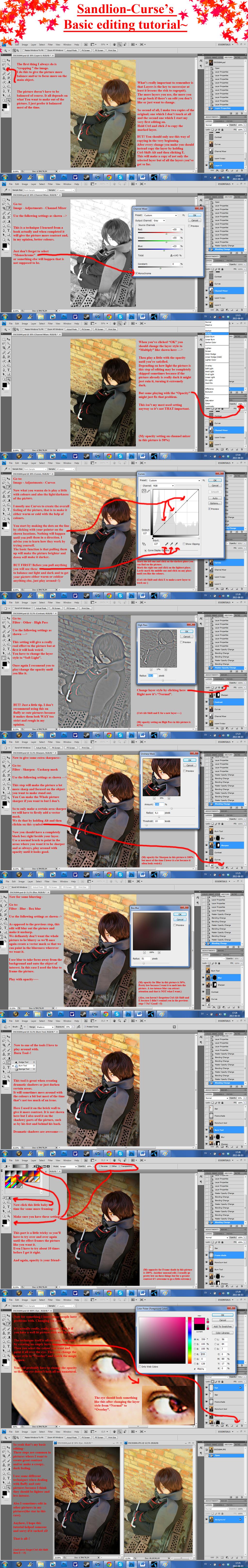 My basic editing: Intense and dark by SandLion-Curse
