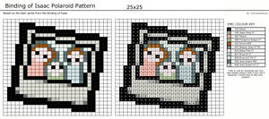 Binding of Isaac Polaroid Pattern