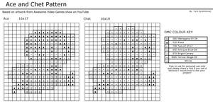 Ace and Chet Pattern - B+W
