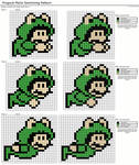 Frogsuit Mario Swimming Pattern