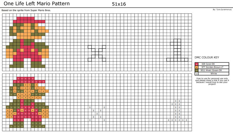 One Life Left Mario Pattern