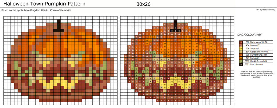 Halloween Town Pumpkin Pattern