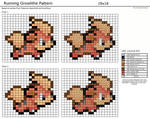 Running Growlithe Pattern by tyrannorus
