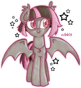 Nibble the Batpony by KimikoNyanChan