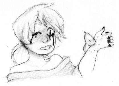 RIP In Pieces Sketch by ameneko98
