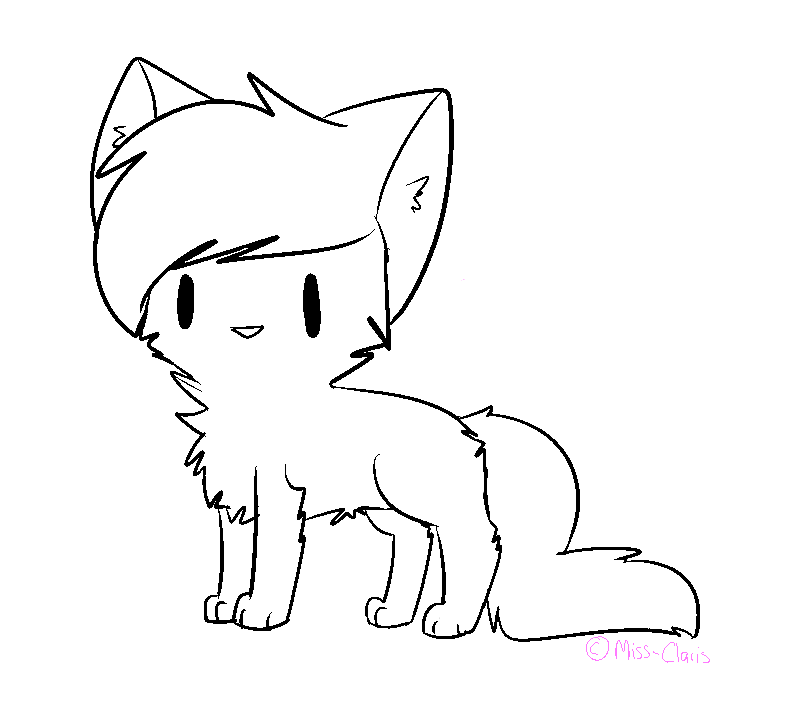 chibi cat lines !FREE TO USE! by Miss-Claris on DeviantArt  Warrior Cat Chibi