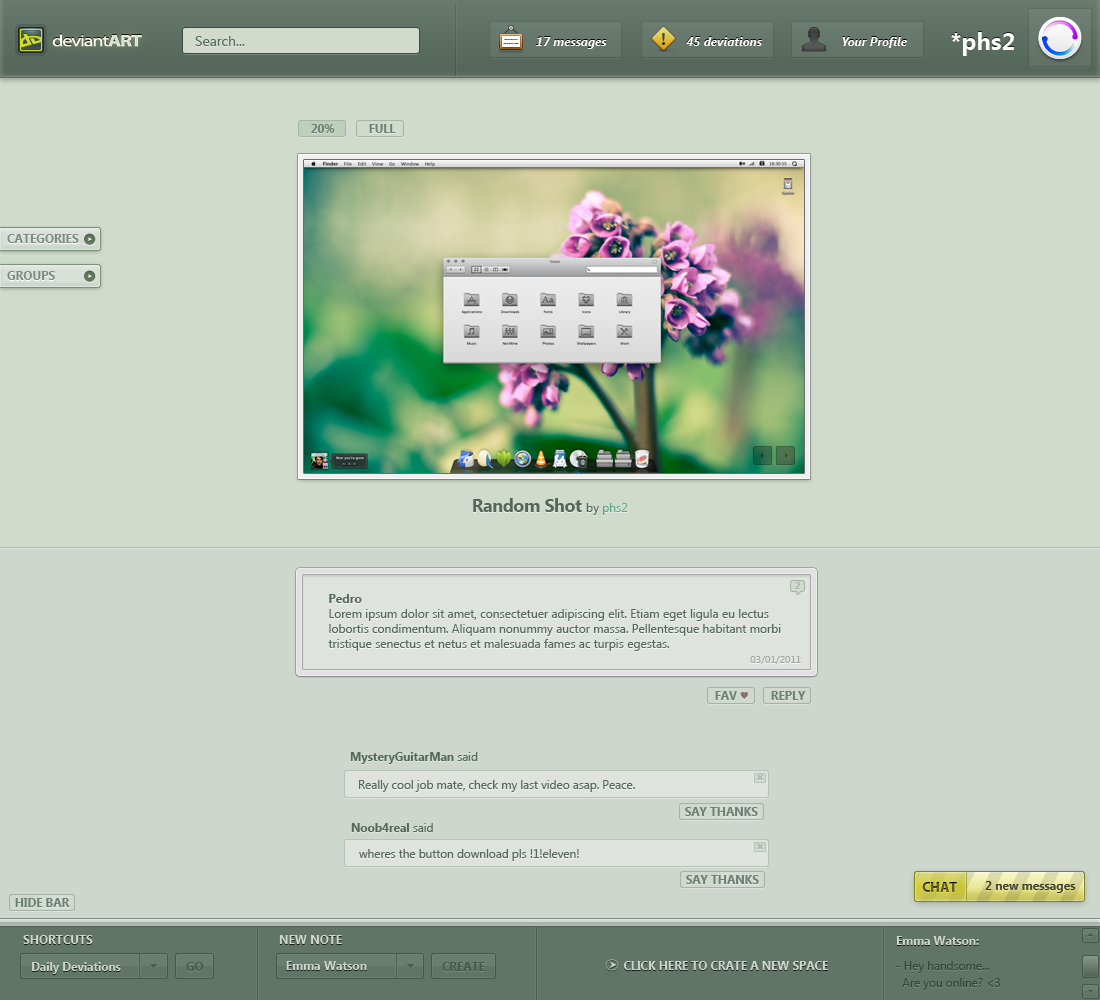 DeviantART 2011 Concept Beta by phs2