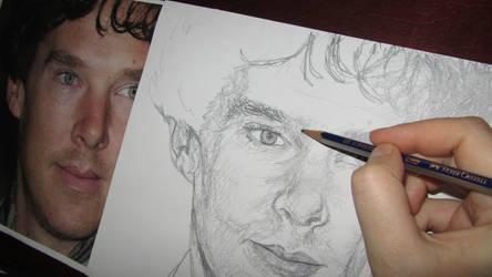 Benedict Cumberbatch - A study in Scribble