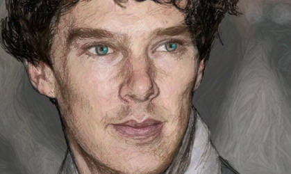 Benedict Cumberbatch - A study in Scribble (Color)
