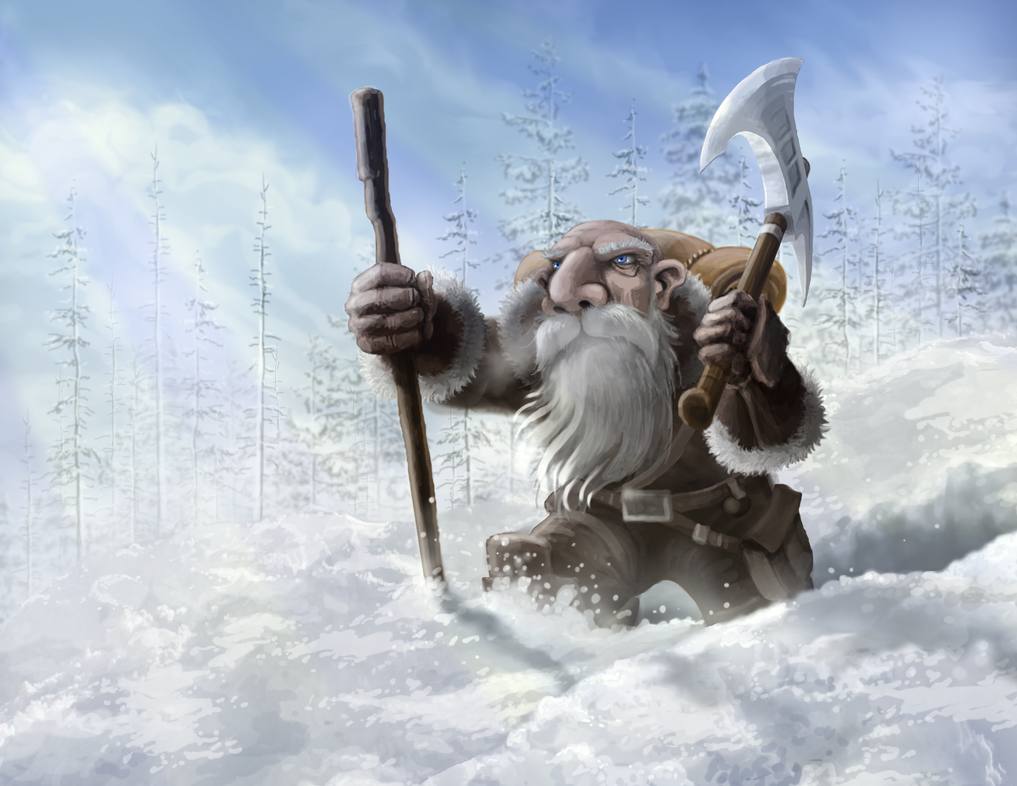 Dwarf In Snow by lifebytes
