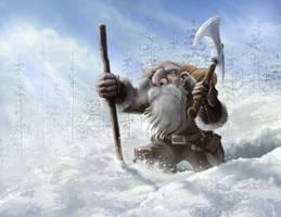 Dwarf In Snow